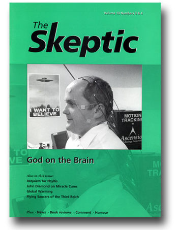 The Skeptic Volume 13, No. 3/4 (double issue)