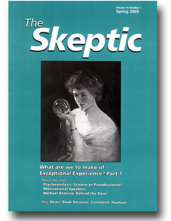 The Skeptic Volume 16, No. 1