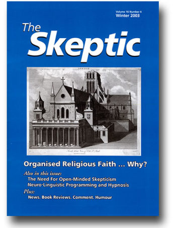 The Skeptic Volume 16, No. 4