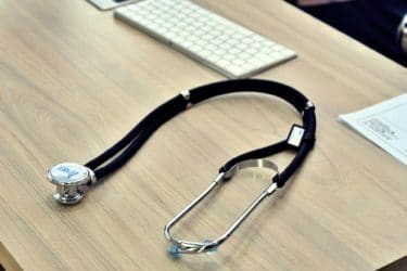 A stethoscope on a table