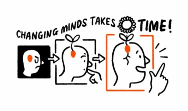 Changing minds takes time, but a seed of an idea you've planted in someone's head can grow and lead to a change of opinion.