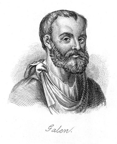 A line engraving of Galen of Pergamon who described endometriosis in Roman times. Image from Wellcome Images (CC by 4.0)