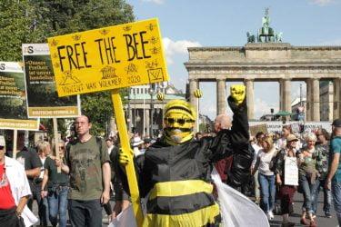 COVID-19 protests in Berlin, 2020.
