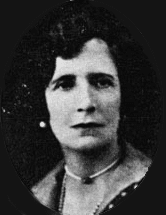 Nesta Helen Webster - a black and white photograph of her looking slightly off centre.