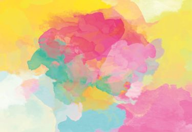An abstract watercolour image of pastel colours