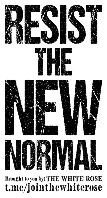 """""""Resist the new normal"""" - black text on a white background"""