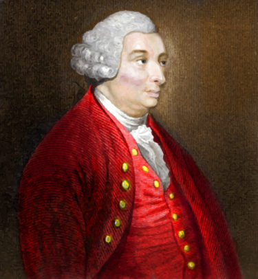 A colourised engraving of Scottish philosopher David Hume from The History of Great Britain.