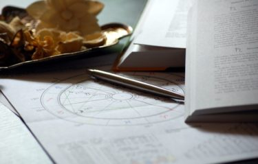 Astrology charts and books