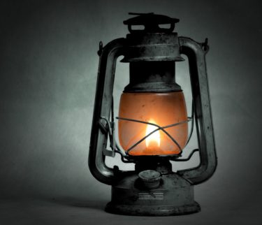 A kerosene lantern